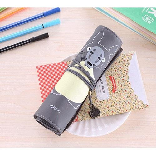 Jual Gogostore Baru Roll Pen Bag Totoro Anime Pensil Case Kosmetik Alat Tulis Hadiah Intl Murah