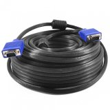 Promo Gold High Quality Kabel Vga Male 10 Meter Cable Proyektor 10M Hitam Cable Terbaru
