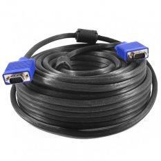 Harga Gold High Quality Kabel Vga Male 10 Meter Cable Proyektor 10M Hitam Lengkap