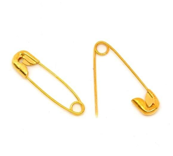 Gold Safety Pin 19X5Mm Per Paket 500 Intl Terbaru