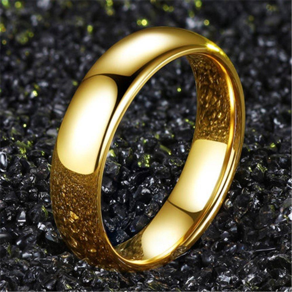 Ulasan Lengkap Gold Warna Fashion 316L Stainless Steel Pria Sederhana Ring Tail Cincin Perhiasan Emas Intl