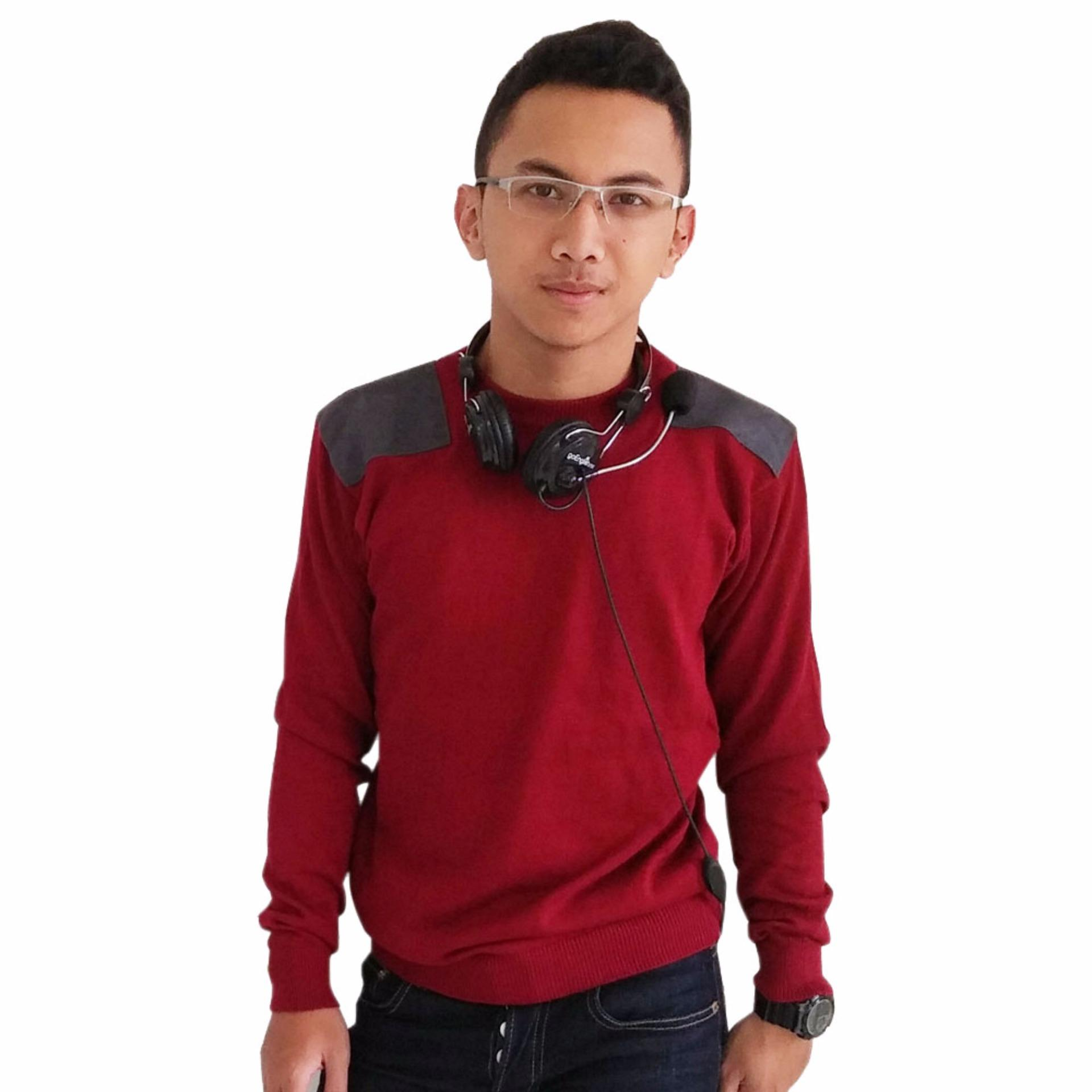 Diskon Gomuda Sweater Rajut Pria Trooper Merah Akhir Tahun