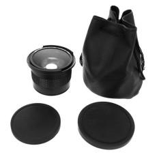 Baik 0.35X58 Mm 52 Mm Lensa Mata Ikan Digunakan Dalam Canon 70D 60D 7D 6D 700D 650D 600D 550D 500D hitam-Intl