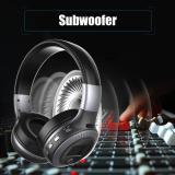 Jual Baik B19 Wireless Stereo Bluetooth Headset Headphone Lcd Display Dengan Mic Fm Radio Hitam Silver Murah