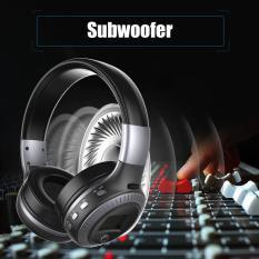 Promo Baik B19 Wireless Stereo Bluetooth Headset Headphone Lcd Display Dengan Mic Fm Radio Hitam Silver Oem Terbaru