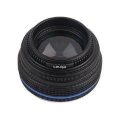 Telepon YANG BAGUS Lens Set Klip Logam Smart Phone 0.45X Super Sudut Lebar + Lensa Makro Set Hitam-Intl