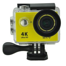 Goodpa 4 K WIFI Sport DV H9 2.0 LCD 30 M Tahan Air 1080 P Kamera Olah Raga Wifi Xdv/Ultra HD 4 K Action Camera Kuning-Intl