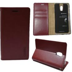 Goospery Mercury Sarung Kulit Leather Case Blue Moon Flip HP Samsung Galaxy J7 Plus - Wine