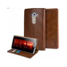 Beli Goospery Mercury Sarung Kulit Leather Case Blue Moon Flip Lg G4 Coklat Kredit