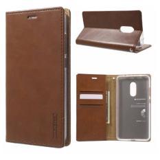 Harga Hemat Goospery Mercury Sarung Kulit Leather Case Blue Moon Flip Xiaomi Redmi Note 4 Coklat