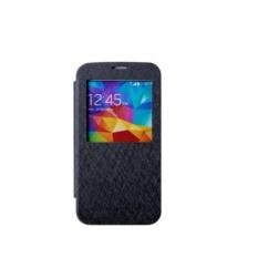 Goospery Mercury WOW Bumper View Case Flip Cover Samsung Galaxy S5 G900 i9600 – Hitam