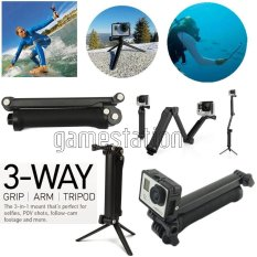 Gopro 3-Way Monopod Grip Arm Tripod Brica B-PRO & Yi Action Camera
