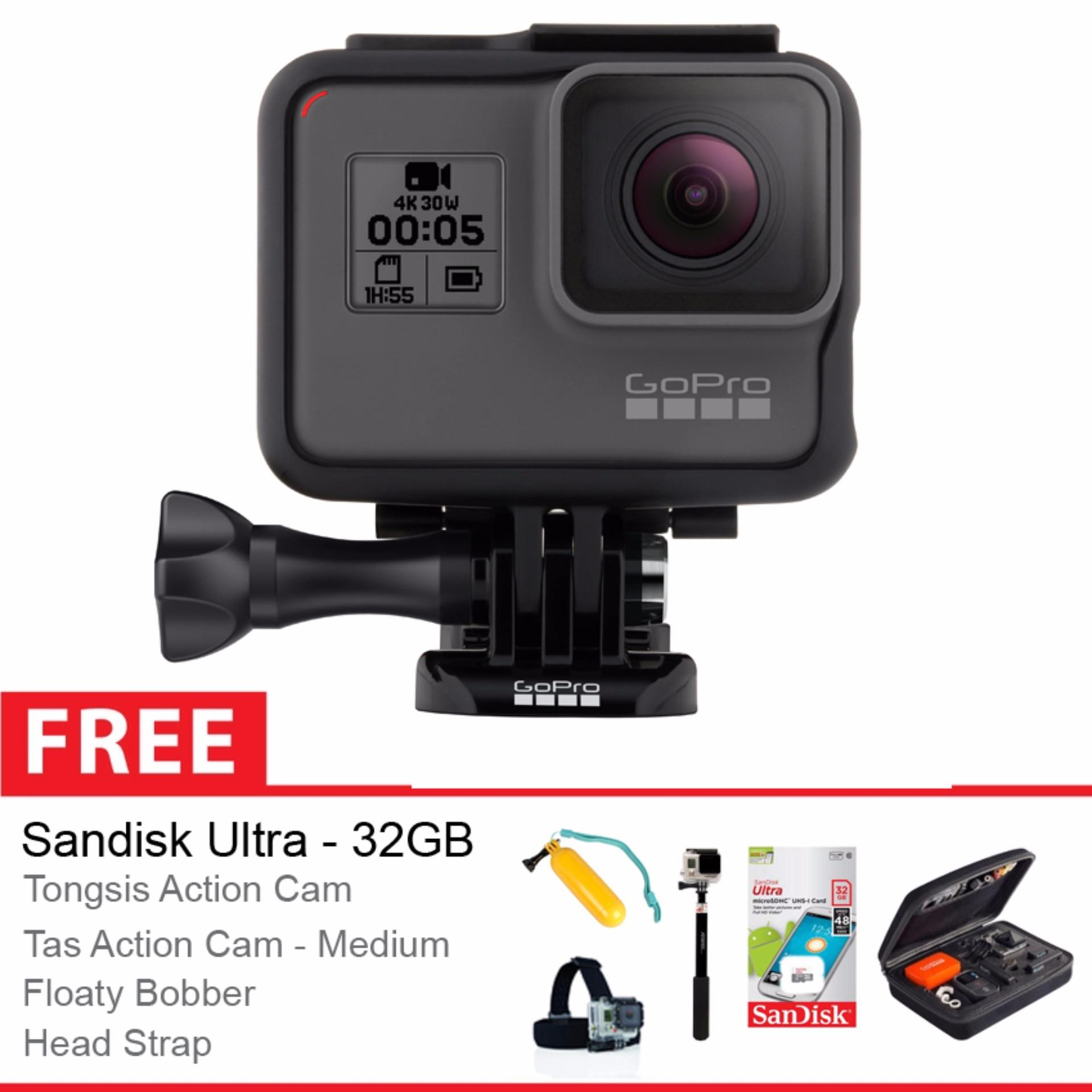 Spesifikasi Gopro Hero 5 Black Edition Free Aksessories Action Cam Bagus