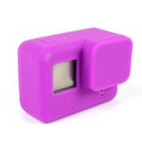 Debu Bukti Silicone Case Lensa Perlindungan Pelindung Soft Cover Untuk Go Pro Hero 5 Sesi 4 K Olahraga Action Aksesoris Kamera Ungu Promo Beli 1 Gratis 1