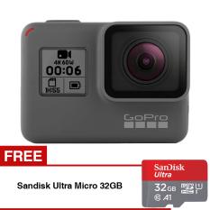Beli Gopro Hero 6 Black Gratis Sandisk Ultra Micro Sdhc 98Mb S 32Gb Class 10 A1 Online Murah