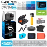 Toko Gopro Hero 6 Paket Complete Action Camera Hero6 4K 60Fps Garansi Resmi 1 Tahun Lengkap