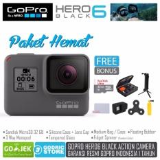 GoPro Hero 6 Paket Hemat Action Camera Hero6 4K 60FPS Garansi Resmi 1 Tahun