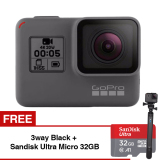 Spesifikasi Gopro Hero5 4K Ultra Hd Camera Black Gratis 3Way Black Sandisk Ultra Micro Sdhc 98Mb S 32Gb Class 10 A1 Murah Berkualitas