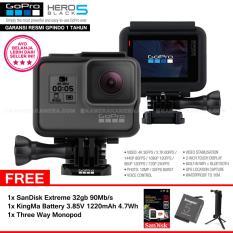 Spesifikasi Gopro Hero5 Black 4K Ultra Hd Camera Resmi Indogp Sandisk Extreme 32Gb 90Mb S 1Pcs Kingma Battery 3 85V 1220Mah 4 7Wh Three Way Monopod Beserta Harganya