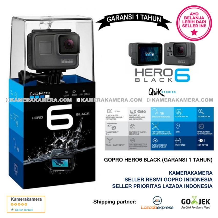 Harga Gopro Hero6 Black Quik Stories Resmi Gopro 4K Wifi Waterproof Plus New Zoom Mode Murah