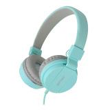 Ulasan Mengenai Gorsun Gs779 Ringan Lipat Headphone Adjustable Headband Headset Dengan Mikrofon Soft Ear Pad Untuk Ponsel Smartphone Biru Muda Intl