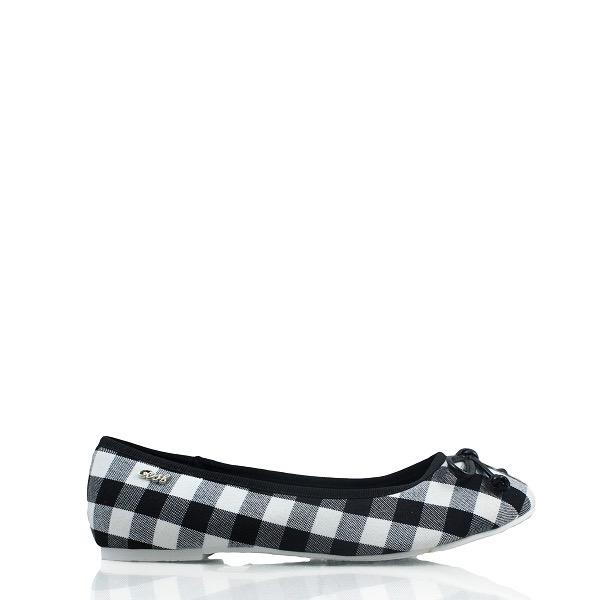 Gosh Casual Checkered Ballerina Shoes 115 Black
