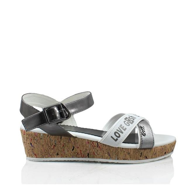 Gosh Casual Wedges Slingback Sandals 159 Silver