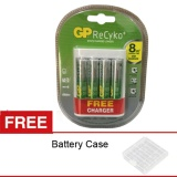 Harga Gp Portable Usb Travel Charger 4 Battery Aa Recyko 2000Mah Free Case Baru Murah