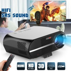 GP100 LCD Video Projector w/1080P Full-HD Level Quality 5000 Lumens 90-240V USB EU Plug - intl