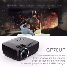 Gp70up Android 4.4 Mini LED Proyektor dengan Google Bermain Diperbarui Oleh Gp70 Portable Proyektor 1g/8g Bluetooth Wifi TV Beamer-Intl