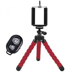 GPL/Universal Compact Tripod Stand-Remote Termasuk-Fleksibel Octopus Cell Phone Camera Selfie Stick Tripod Mount untuk Smartphone/Kamera Digital/GoPro Hero (Merah) /kapal dari AMERIKA SERIKAT-Intl