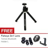 Harga Gpro Tripod Mini M 1088 Hitam Gratis Fisheye 3In1 Lens Tomsis Bluetooth Holder L Termurah