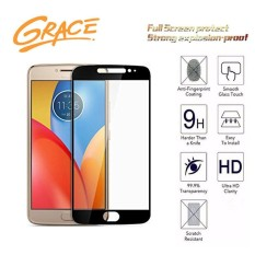 Grace Motorola Moto E4 Plus / XT1770 - 2.5D Full Screen Tempered Glass - Lis Hitam