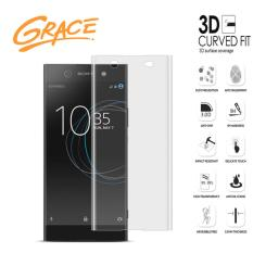 Jual Grace Sony Xperia Xa1 Ultra G3226 Tempered Glass 3D Curved Full Cover Clear Branded Murah