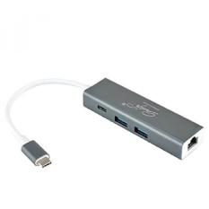 Gracelife Premium USB C HUB dengan Ethernet dan Power Delivery. 2 SuperSpeed USB 3.0 Ports.1 Ethernet dan 1 USB C Pengisian Input Portwith Spesifikasi PD-Intl
