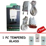 Beli Grade Aa 888 2 1A 15W Smart Fast Charger With 3 Outputs Free Xiaomi Mi 2A Tempered Glass Grade Aa Asli