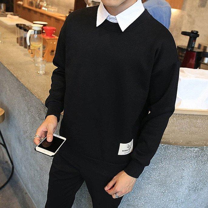 Spesifikasi Grandwish Pria Sweatshirts Leher O Autumn New Fashion M 3Xl Hitam Intl Oem