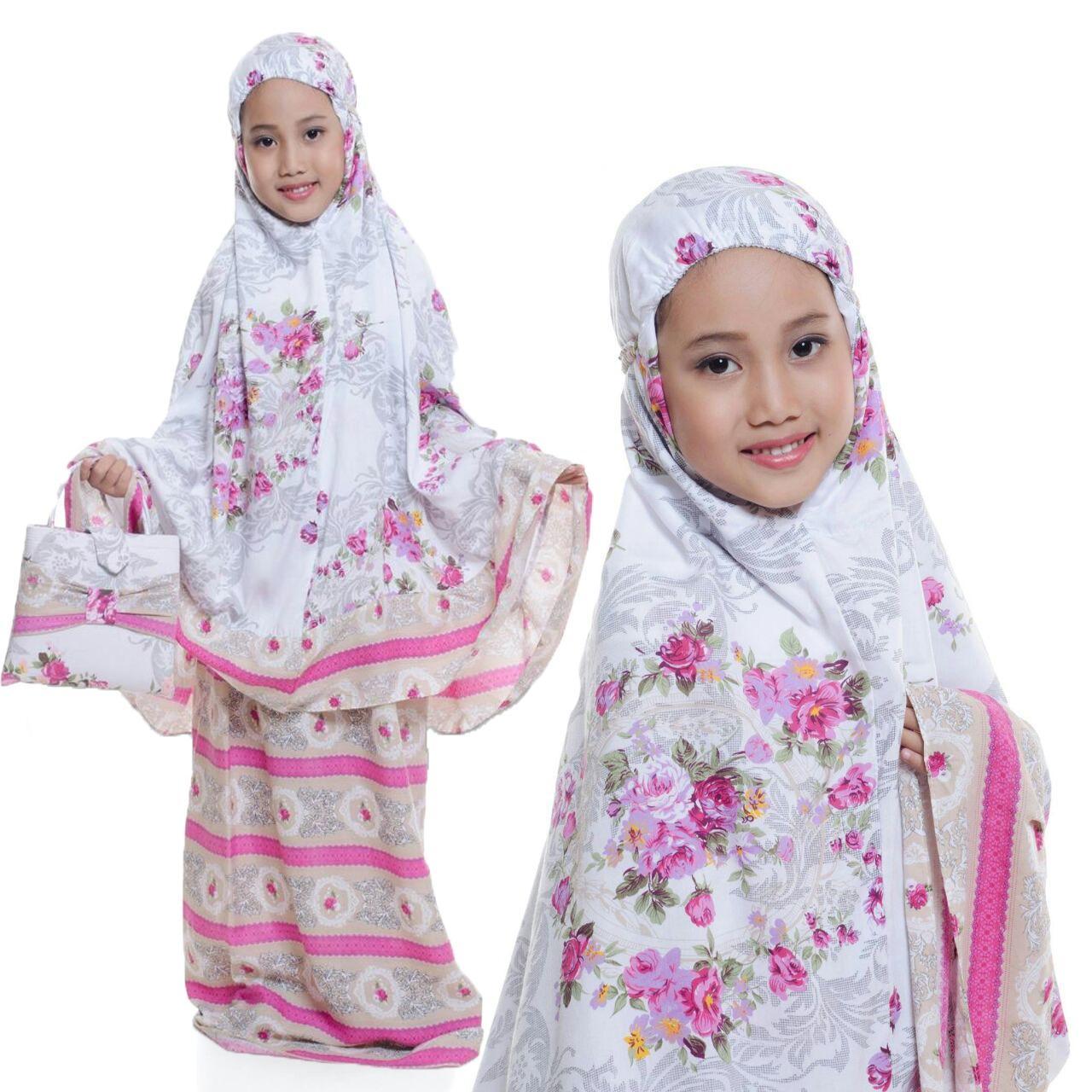 Grateful Fashion Setelan Mukena Anak Kalila Untuk 6 Tahun Sampai 8 Tahun - Coklat - Best Seller 3