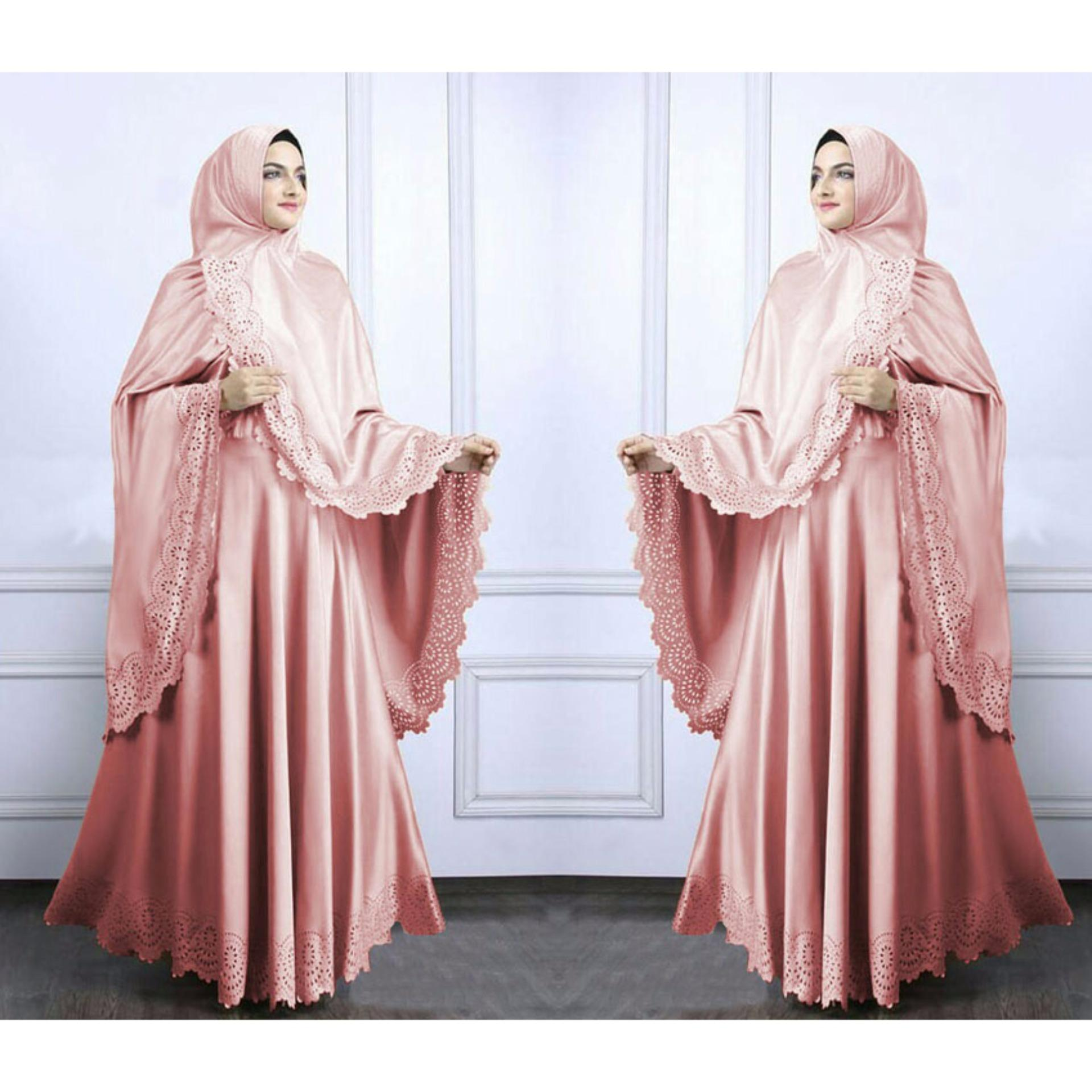 Harga Grateful Syari Zahwa Dusty Pink Grateful Ori