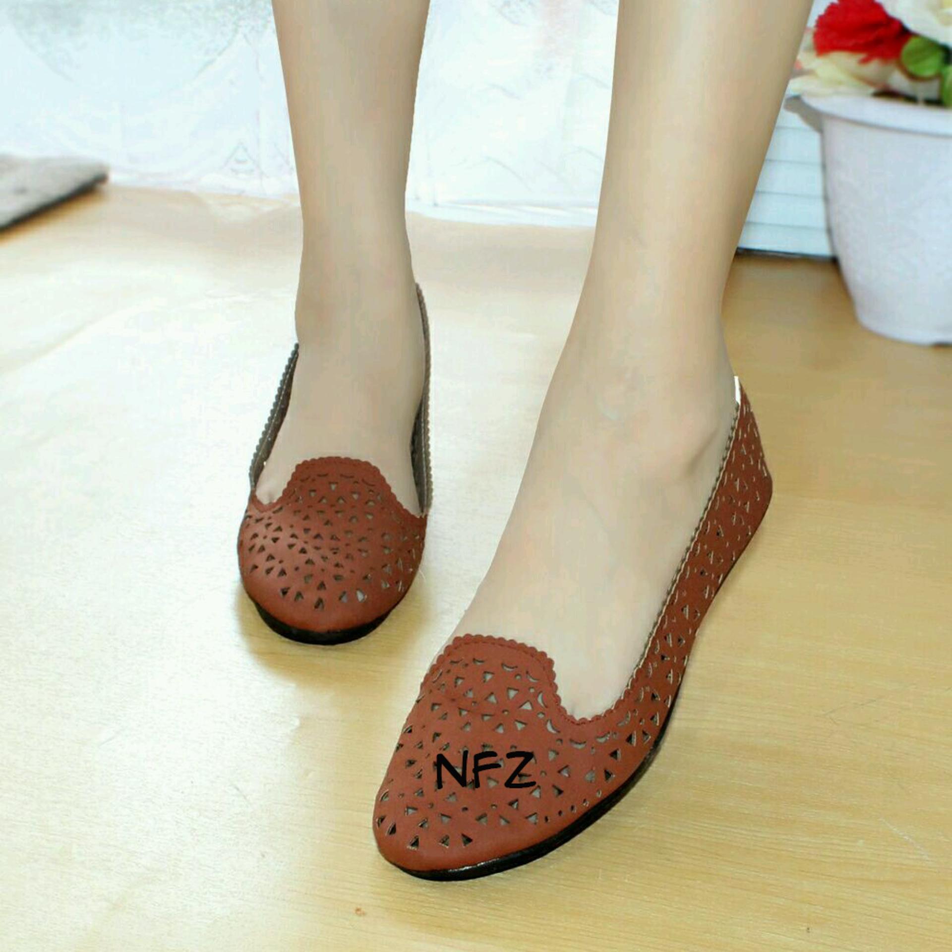 Beli Gratica Sepatu Flat Flatshoes Laser Brick Nfz 14 Terbaru