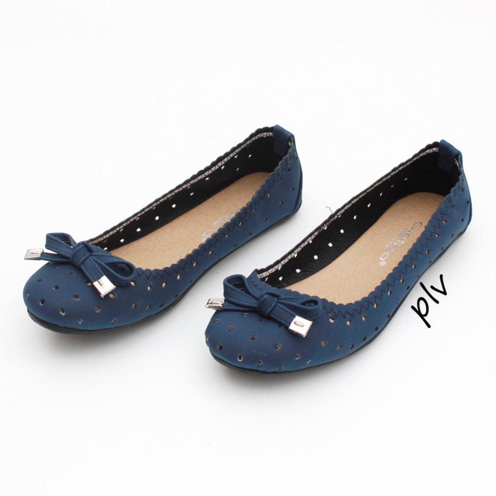 Review Pada Gratica Sepatu Flat Shoes Bd13 Navy