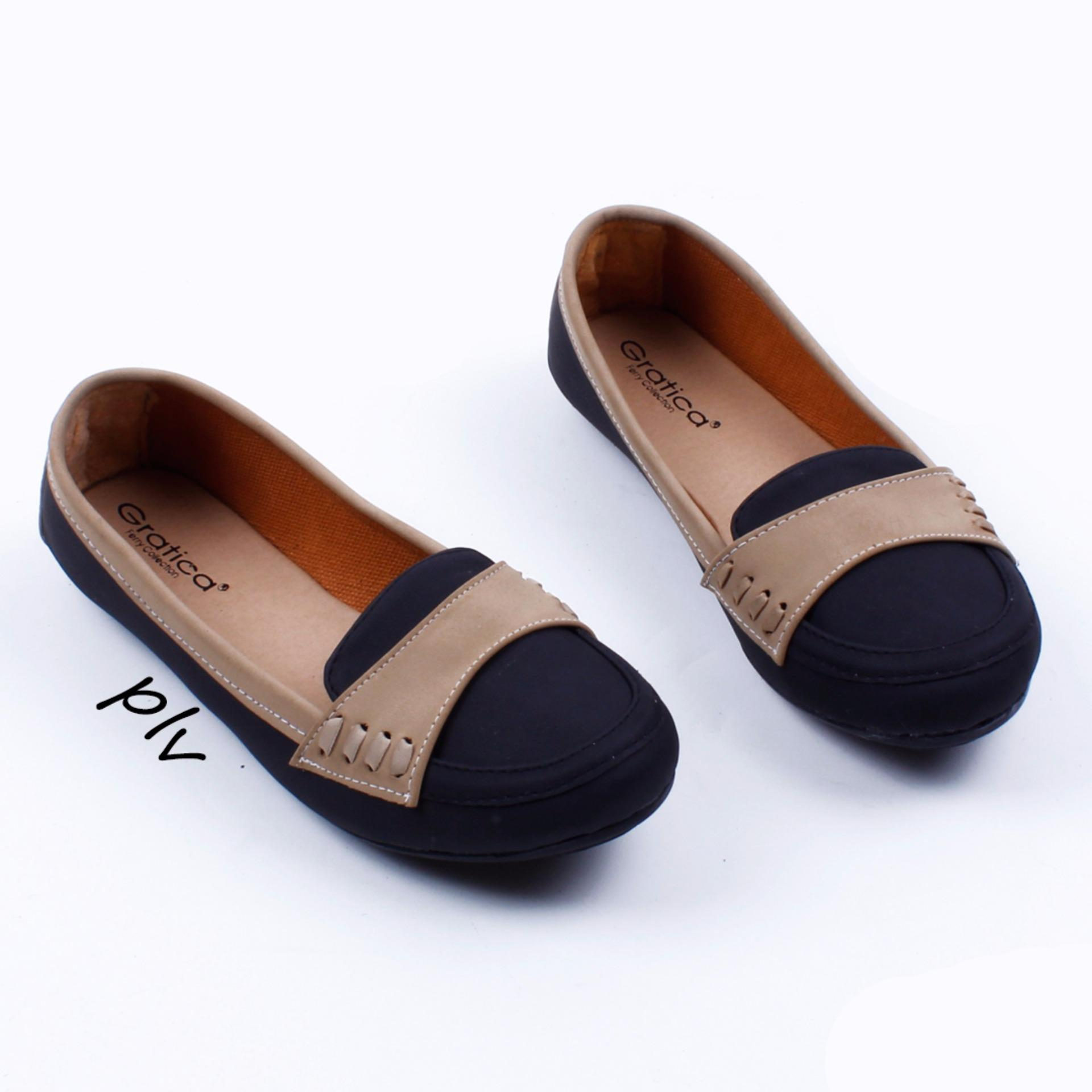 Review Gratica Sepatu Flat Shoes Ds20 Hitam Gratica