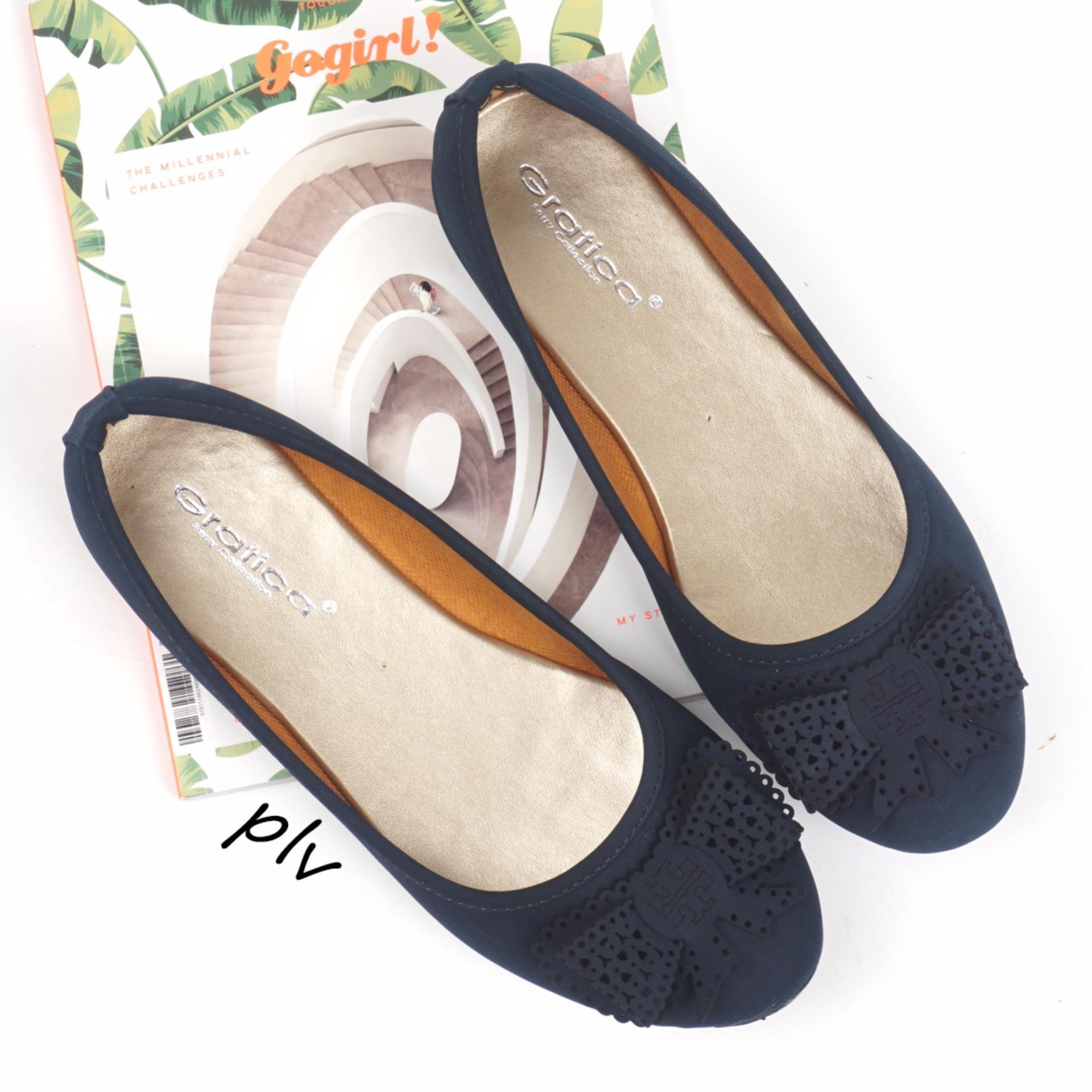 Gratica Sepatu Flat Shoes Mi01 Navy Gratica Diskon 30