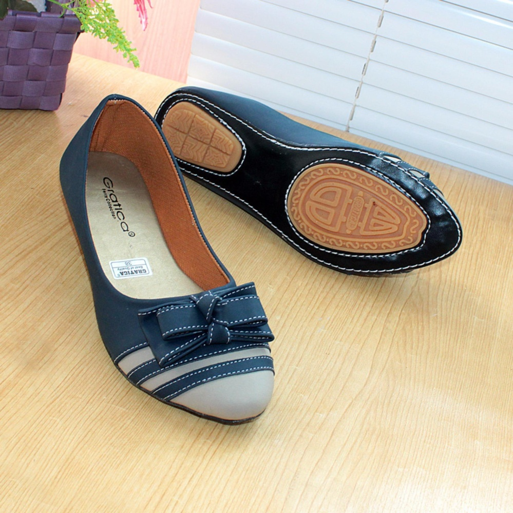 Jual Gratica Sepatu Flatshoes Flat Shoes Aw26 Navy Gratica Branded