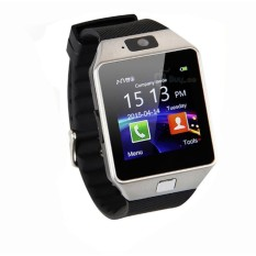 Great Smartwatch DZ09 Bluetooth with SIM Card and Micro SD slot for Android Smartphone - Silver