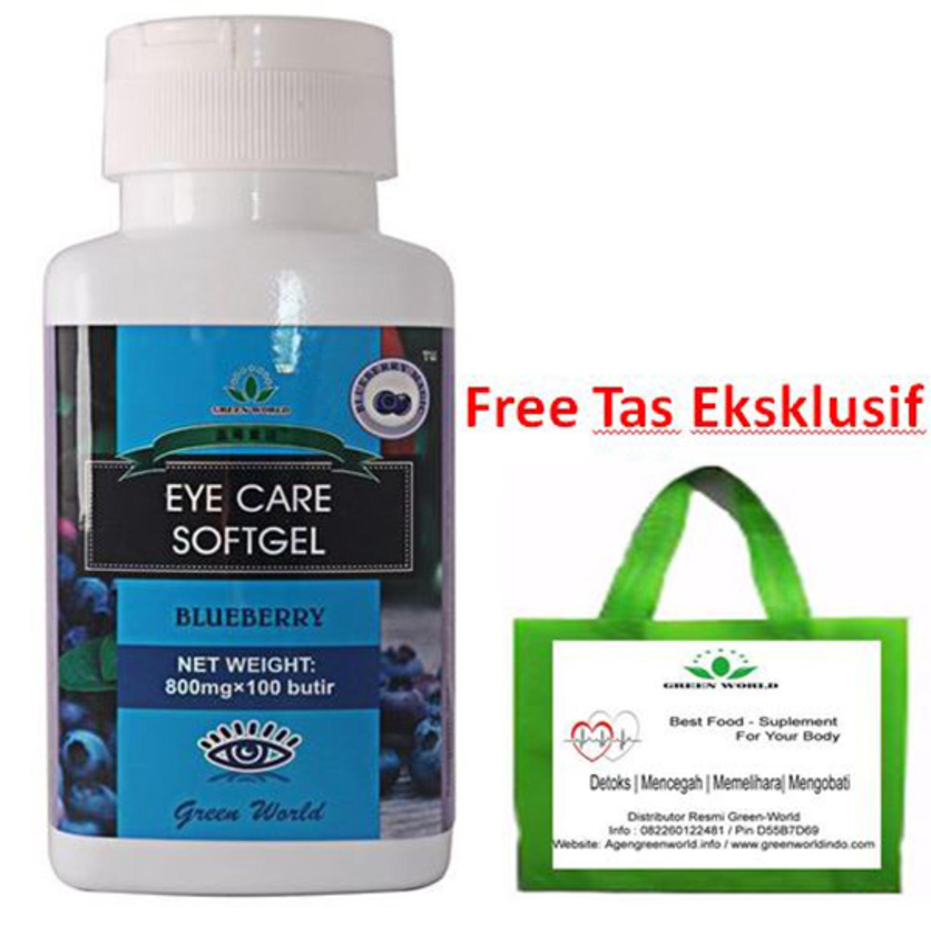 Kualitas Green World Eye Care Softgel Bonus Tas Ekslusif Green World