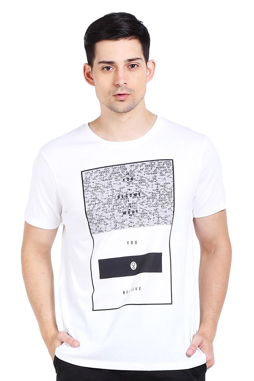 Greenlight Pakaian Atasan Kasual Kaos T-Shirt Pria Men Tshirt White Diskon discount murah bazaar baju celana fashion brand branded