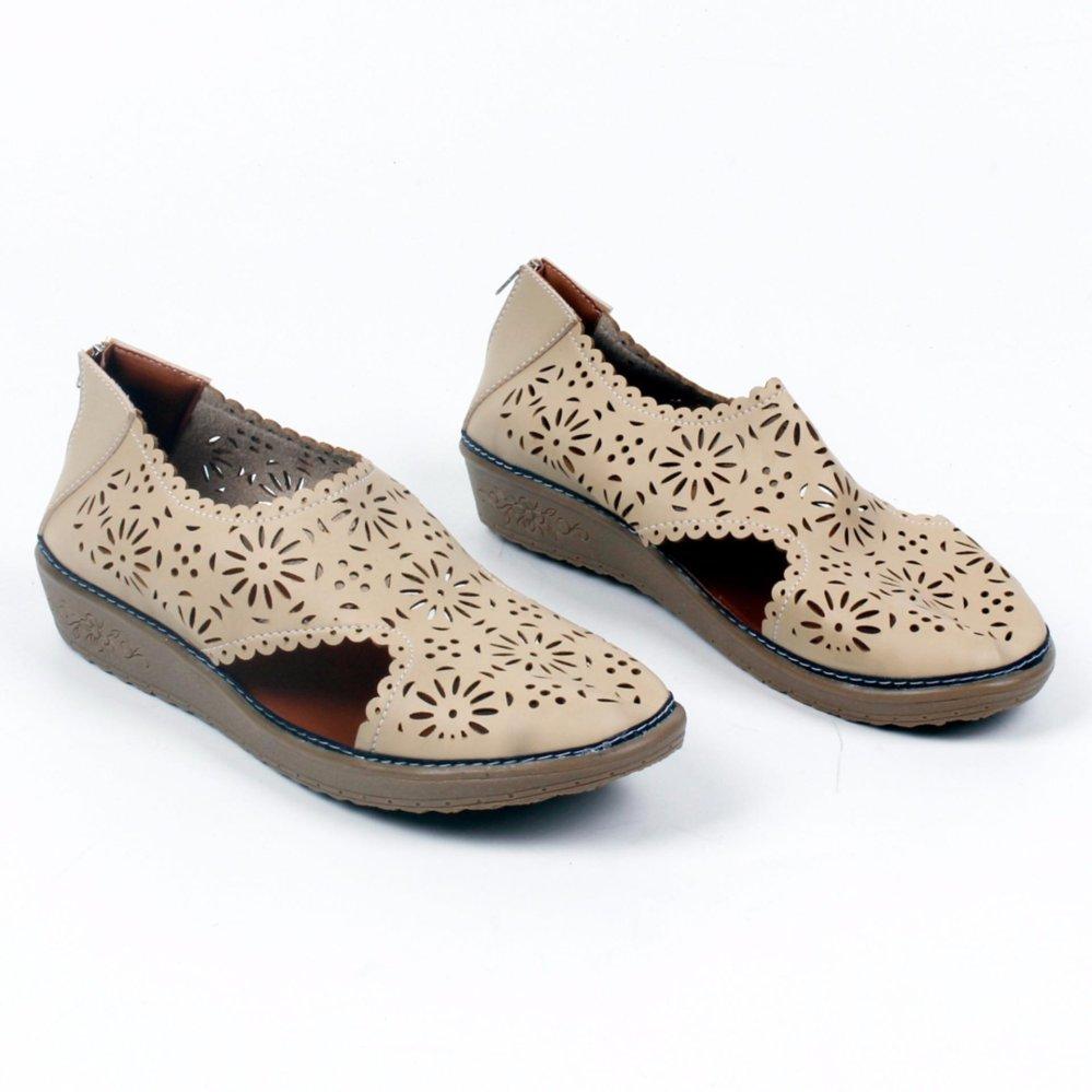 Harga Grivera Sepatu Wanita Flat Shoes Laser My22 Cream Di Jawa Barat