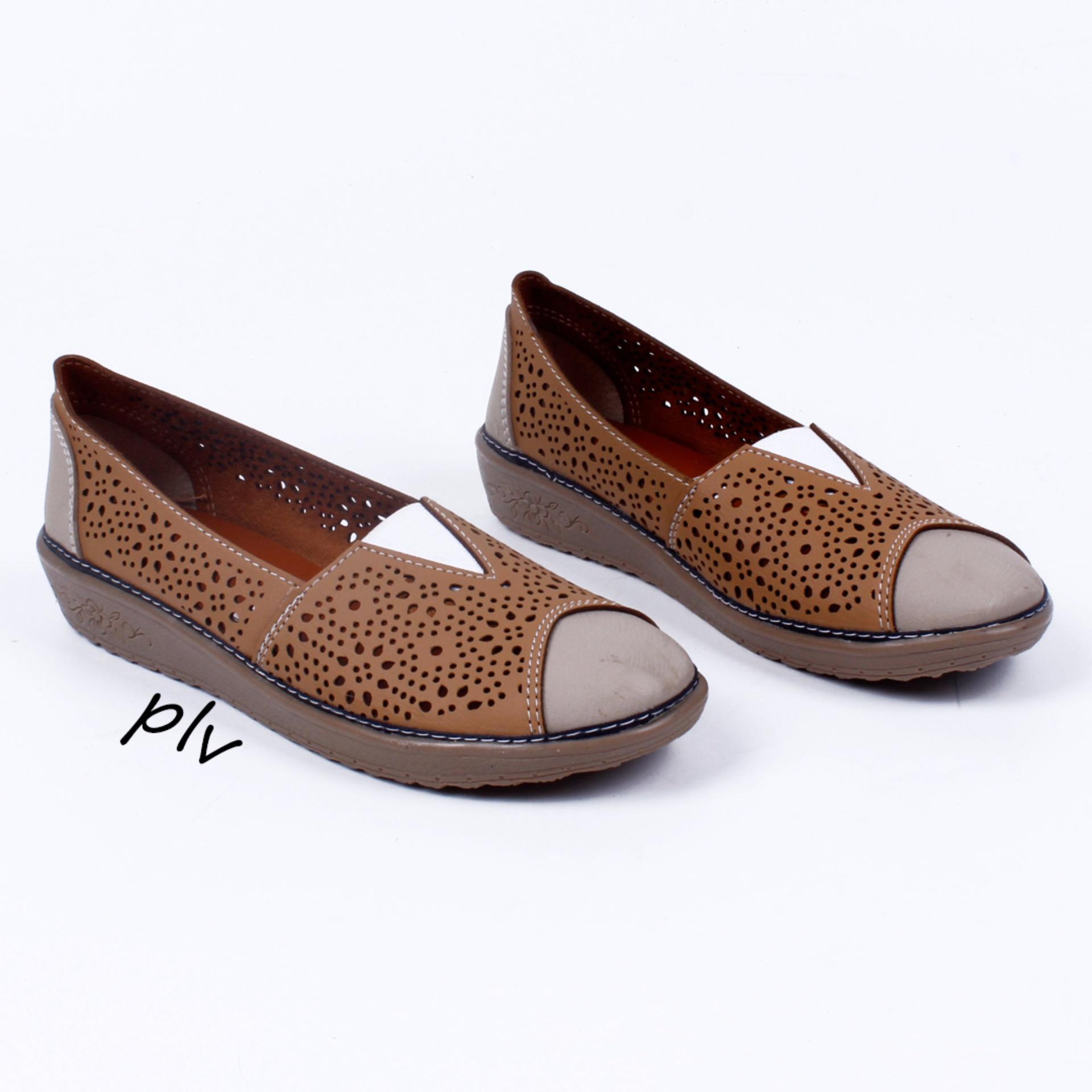 Harga Grivera Sepatu Wanita Flat Shoes Laser My88 Tan Grivera Shoes
