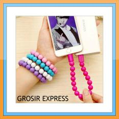 Grosir Express Kabel Data Gelang Mutiara Micro USB